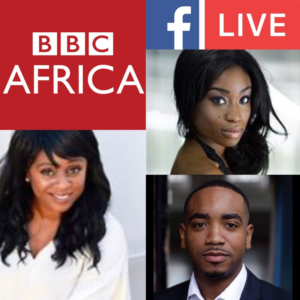 Join @clareanyiamo @pearseuk @adele_oni of @noshade on @bbcafrica Facebook live from 4.30pm plus Radio & TV 6pm today!