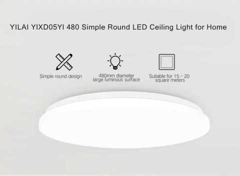 xiaomi yeelight yilai ylxd05yl 480 simple round led smart ceiling light