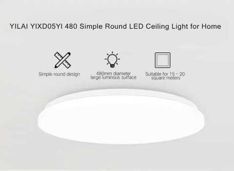 xiaomi yeelight yilai ylxd05yl 480 simple round led smart ceiling light