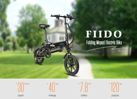 FIIDO D1 - FIIDO D1 Folding Electric Bike Gearbest Coupon Promo Code [8AH BATTERY] [Poland Warehouse]