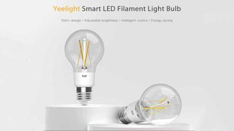 Yeelight YLDP12YL Smart LED Filament Light Bulb - Yeelight YLDP12YL Smart LED Filament Bulb Banggood Coupon Promo Code