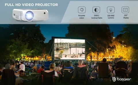 BOMAKER LCD full HD Mini Projector - BOMAKER LCD Full HD Projector Amazon Coupon Promo Code