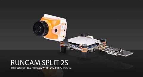 RunCam Split 2S - RunCam Split 2S FOV 170-degree Super WDR Mini FPV Camera Gearbest Coupon [Israel-Middle East]
