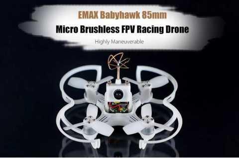 emax babyhawk 85mm mirco brushless rc drone