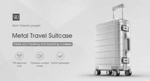 Xiaomi 20 inch Metal Travel Suitcase Universal Wheel - Xiaomi 90FUN 20 inch Metal Travel Suitcase Banggood Coupon Promo Code [Czech Warehouse]