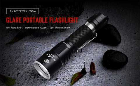 Tank007 KC15 - Tank007 KC15 1000lm Glare 10W High Power Flashlight Gearbest Coupon Promo Code