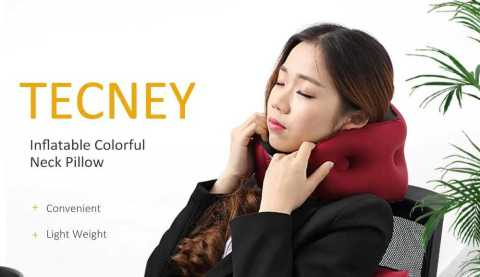 Tecney w2 Inflatable Colorful Neck Pillow - Tecney w2 Inflatable Colorful Neck Pillow Gearbest Coupon Promo Code