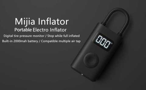 Xiaomi Mijia Portable Tire Pressure Detection Electric Inflator Pump 1 - Xiaomi 5V 150PSI Bike Pump Banggood Coupon Promo Code