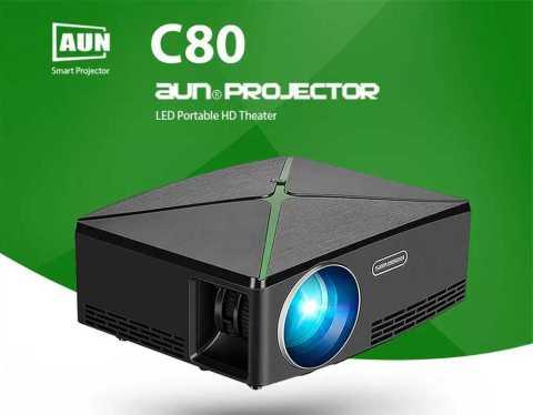 aun c80 led projector