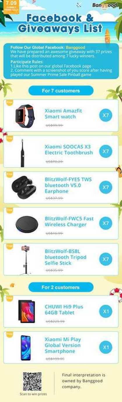facebook giveaway list banggood - Follow & Play Game and Win Giveaways from Banggood
