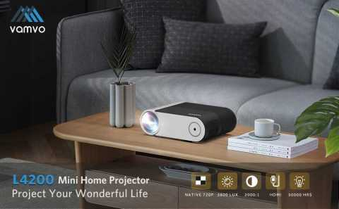 Vamvo L4200 Portable Video Projector - Vamvo L4200 Portable Mini Projector Banggood Coupon Promo Code