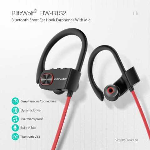 Blitzwolf BW BTS2 - Blitzwolf BW-BTS2 Sport Wireless Earphone Banggood Coupon Promo Code [UK Warehouse]