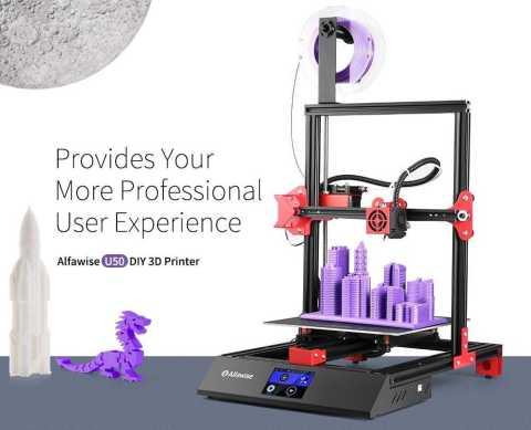 Alfawise U50 3d printer - Alfawise U50 DIY 3D Printer Gearbest Coupon Promo Code