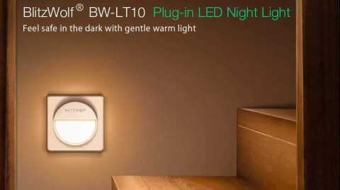 BlitzWolf BW LT10 - BlitzWolf BW-LT10 Plug-in LED Night Light Banggood Coupon Promo Code