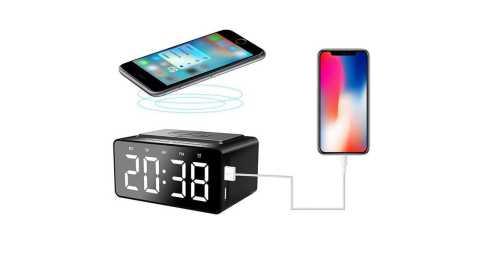 aec bt508 wireless speaker & charger & alarm clock & fm radio