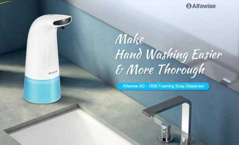 Alfawise AD 1806 - Alfawise AD - 1806 Automatically Induction Foam Soap Dispenser Gearbest Coupon Promo Code
