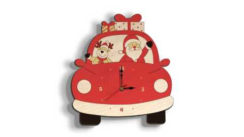 Loskii SD001 Christmas Wall Clock - Loskii SD001 Christmas Wall Clock Banggood Coupon Promo Code