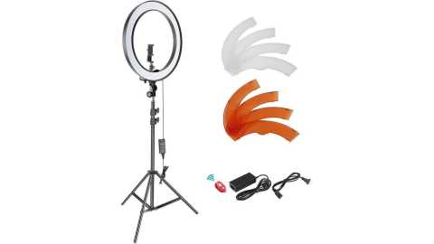 "Neewer 18 Filter Light Kit - Neewer 18"" SMD LED Ring Light Kit Amazon Coupon Promo Code"