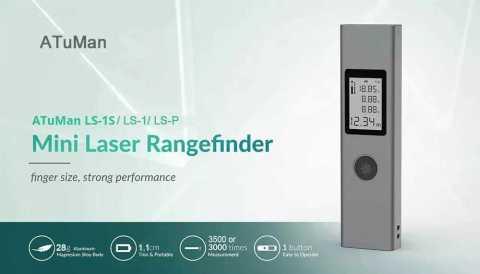 ATuMan DUKA LS 1 - Xiaomi ATuMan DUKA LS-1 Laser Rangefinder Banggood Coupon Promo Code [Czech Warehouse]