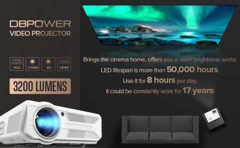 DBPOWER RD 819 Projector - DBPOWER RD-819 Video Projector Amazon Coupon Promo Code