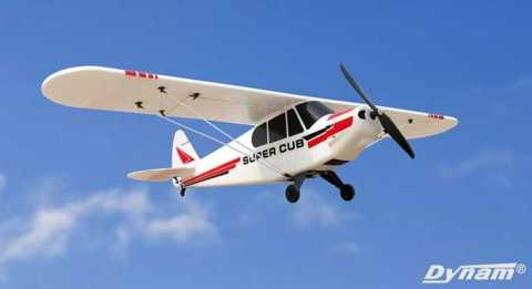 dynam super cub pa-18 rc airplane