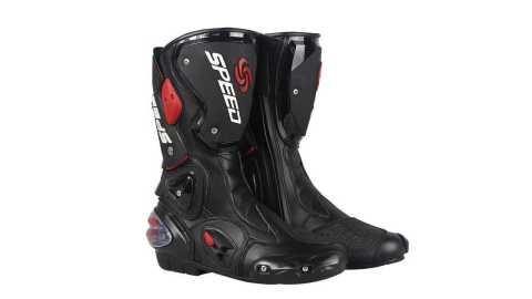 Pro Biker  Motorcycle racing Boots - Pro-Biker Fiber Leather Motorcycle Racing Boots Banggood Coupon Promo Code
