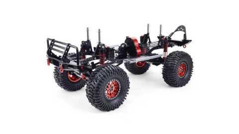 zd scx10 1/10 4wd carbon fiber rc car frame+motor+esc+servo