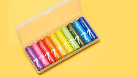 xiaomi zi7 rainbow alkaline aaa battery