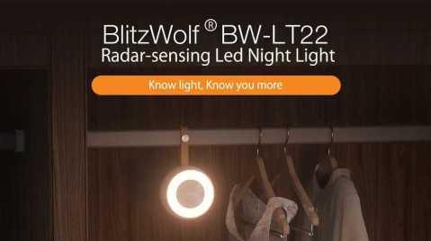 BlitzWolf BW LT22 - BlitzWolf BW-LT22 Radar Sensor LED Night Light Banggood Coupon Promo Code