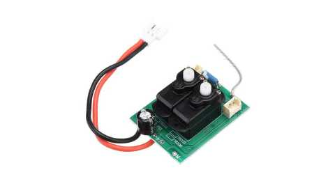 eachine mini mustang p-51d 4ch onboard servo receiver board with gyro