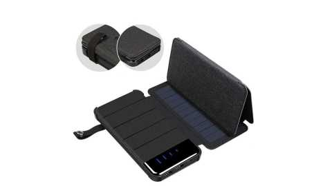 solar charging panel folding mobile phone charger
