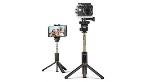 blitzwolf bw-bs3 sports versatile 3 in 1 bluetooth tripod selfie sticks