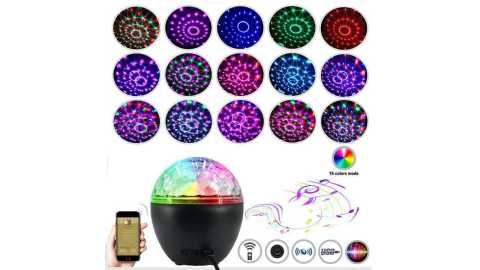 loskii holiday light 16 colors music shake it