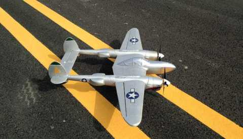 md p38 rc airplane lockheed p-38 lighting zoom aircraft kit
