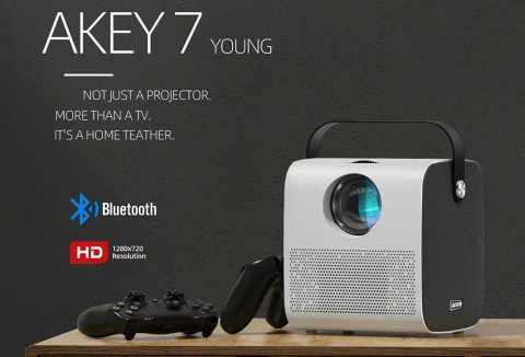 AUN AKEY7 - AUN AKEY7 Young HD Mini Projector Banggood Coupon Promo Code [Czech Warehouse]