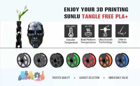 SUNLU PLA Plus Filament - SUNLU Tangle-Free PLA+ 3D Filament Amazon Coupon Promo Code