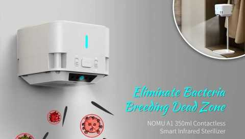 NOMU A1 Contactless Sterilizer - NOMU A1 Contactless Smart Infrared Sterilizer Gearbest Coupon Promo Code