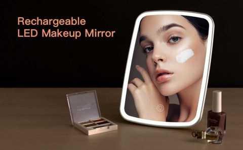 jordan judy Rechargeable LED Makeup Mirror - Xiaomi Rechargeable LED Makeup Mirror Banggood Coupon Promo Code