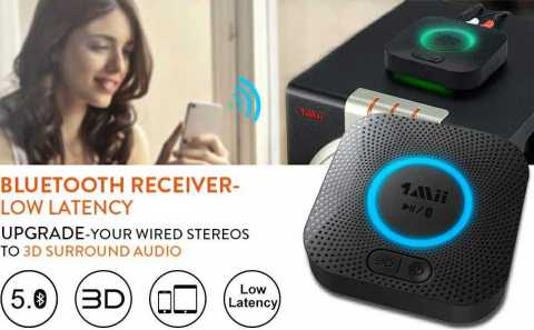 1Mii B06 Plus Bluetooth Receiver - 1Mii B06 Plus Bluetooth Receiver Amazon Coupon Promo Code [Upgraded Version]