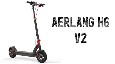 Aerlang H6 V2 - Aerlang H6 V2 Folding Electric Scooter Banggood Coupon Code [Czech Warehouse]