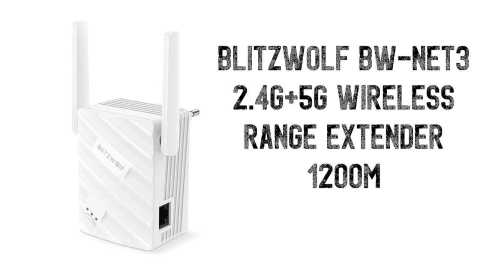 BlitzWolf BW NET3 - BlitzWolf BW-NET3 Dual Band Wireless Range Extender Banggood Coupon Promo Code