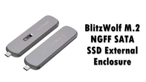 BlitzWolf M 2 NGFF SATA SSD case - BlitzWolf M.2 NGFF SATA SSD Case Banggood Coupon Promo Code [5Gbps]