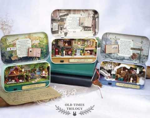 Cuteroom Old Times Trilogy DIY Box - Cuteroom Old Times Trilogy DIY Box Theatre Dollhouse Banggood Coupon Promo Code