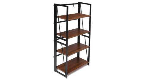 Douxlife DL BS01 Foldable Bookshelf - Douxlife DL-BS01 Foldable Bookshelf Banggood Coupon Promo Code [4 Tiers] [USA Warehouse]