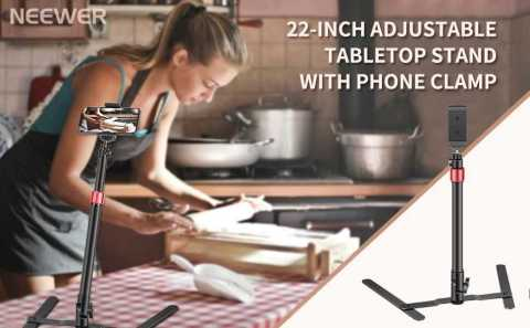 "Neewer 22 inch Photo Copy Stand Projector - Neewer 22"" Adjustable Tabletop Stand with Phone Clamp Amazon Coupon Promo Code"