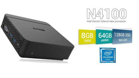 TaNix Mini PC - TaNix Mini PC Amazon Coupon Promo Code [N4100 8+64GB eMMC+128GB SSD]