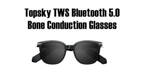 topsky conduction glasses - Topsky TWS Bluetooth 5.0 Bone Conduction Glasses Gearbest Coupon Promo Code