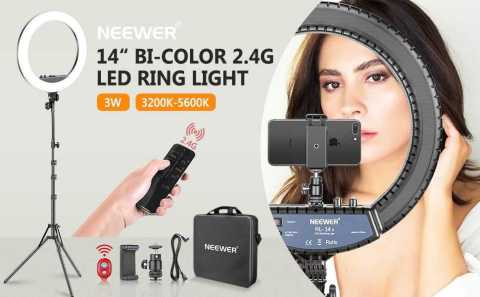 Neewer 14 inch LED Ring Light - Neewer 14-inch LED Ring Light with Stand Amazon Coupon Promo Code
