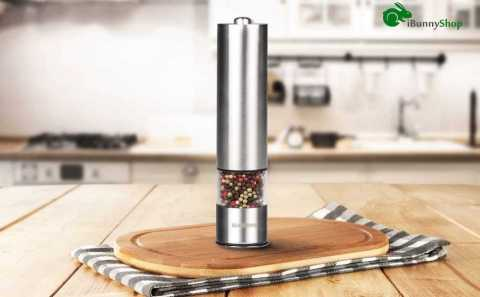 iBunnyShop Electric Salt and Pepper Grinder - iBunnyShop Electric Salt and Pepper Grinder Amazon Coupon Promo Code