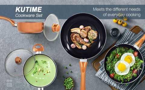 kutime cookware set - KUTIME 10pcs Cookware Set Amazon Coupon Promo Code